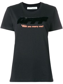 OFF-WHITE WILL YOU MARRY ME T-SHIRT