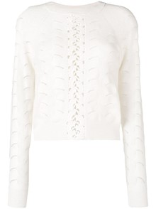 SEE BY CHLOE` EMBROIDERED MOTIF SWEATER