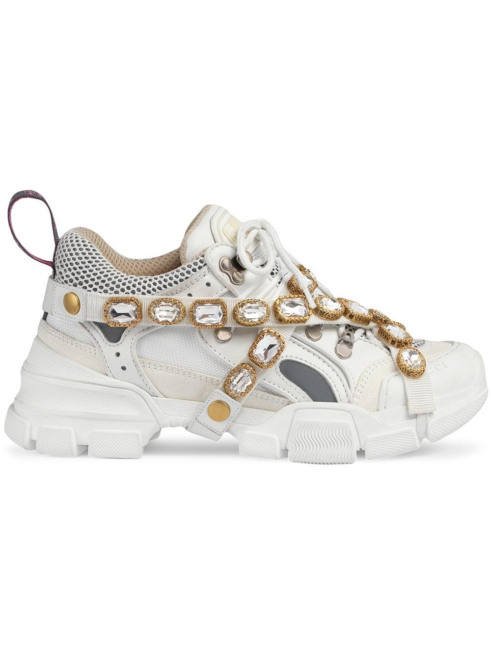 df4db582448 gucci FLASHTREK SNEAKERS WITH REMOVABLE CRYSTALS available on ...