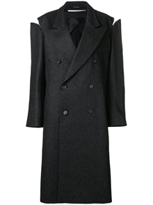 MAISON MARTIN MARGIELA COLD SHOULDER DOUBLE BREASTED COAT