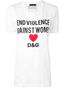 DOLCE & GABBANA END VIOLENCE AGAINST WOMEN T-SHIRT