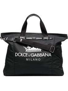 DOLCE & GABBANA CROWN LOGO TOTE BAG