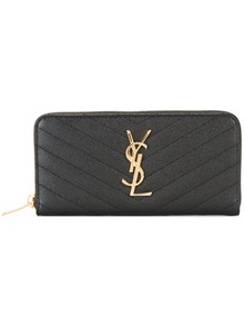 SAINT LAURENT MONOGRAM LOGO ZIPPED WALLET