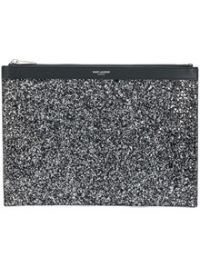 SAINT LAURENT CLUTCH GLITTER