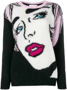 MOSCHINO WOMAN FACE PULLOVER