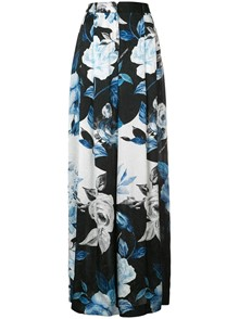 OFF-WHITE FLORAL PRINT TROUSERS