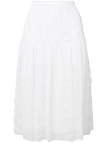 SEE BY CHLOE` EMBROIDERED SKIRT