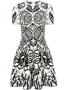 ALEXANDER MCQUEEN  ENGINEERED SPINE DRESS