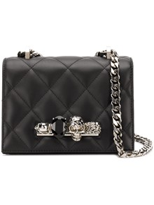 ALEXANDER MCQUEEN  4 RINGS QUILTED SHOULDER BAG