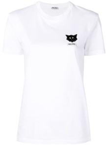 MIUMIU CAT LOGO T-SHIRT