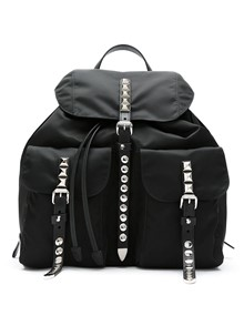 PRADA STUDDED BACKPACK