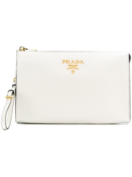 PRADA LOGO CLUTCH BAG