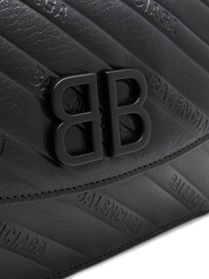 BALENCIAGA LOGO QUILTED SHOULDER BAG