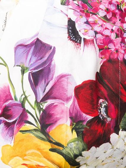 DOLCE & GABBANA FLOWER PRINT SHORTS