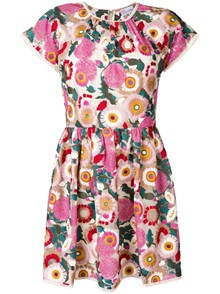 RED VALENTINO FLORAL PRINT DRESS