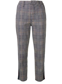 MOTHER CHECK MOTIF TROUSERS WITH SIDE BAND