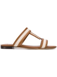 TOD'S DOUBLE T LOGO SANDALS