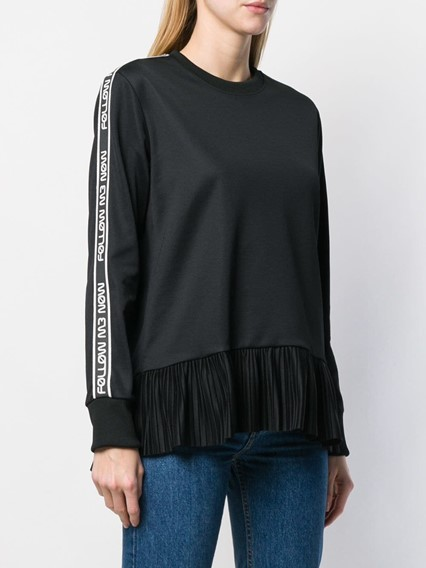 RED VALENTINO PLEATED SWEATER