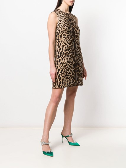 DOLCE & GABBANA ANIMALIER PRINT DRESS