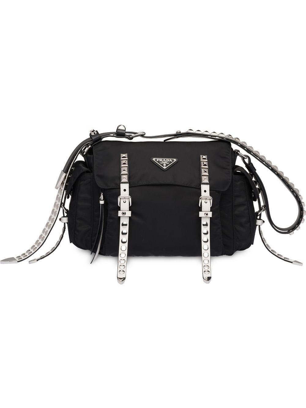 bb34558fd901 prada STUDDED SHOULDER BAG available on montiboutique.com - 26753
