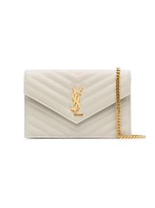SAINT LAURENT CHAIN MONOGRAM CLUTCH