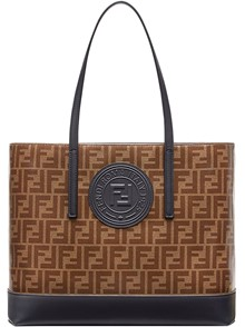 FENDI LOGO SHOPPING TOTE