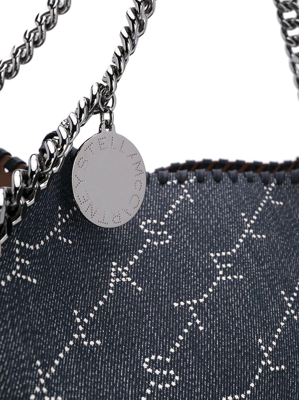 stella mccartney logo print falabella bag available on