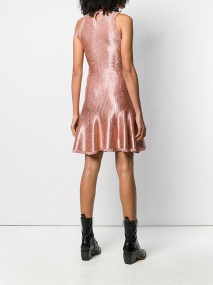 ALEXANDER MCQUEEN  SHINY FLOATED DRESS