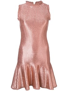 ALEXANDER MCQUEEN  SHINY FLOATED DRESS