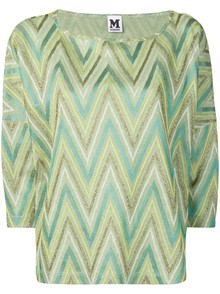 M MISSONI PRINTED 3/4 SLEEVE TOP