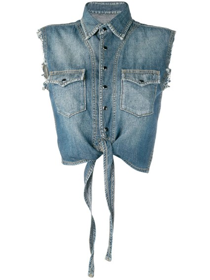 SAINT LAURENT DENIM TOP