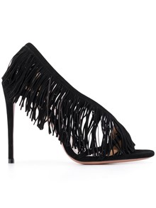 AQUAZZURA FRINGE SANDALS
