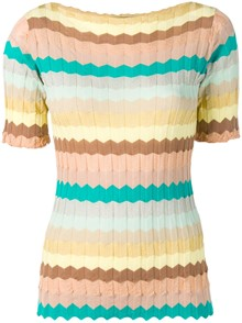 ROBERTO COLLINA STRIPED TOP