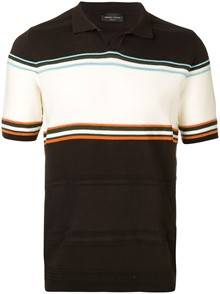 ROBERTO COLLINA STRIPED POLO