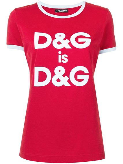 DOLCE & GABBANA D&G IS D&G T-SHIRT
