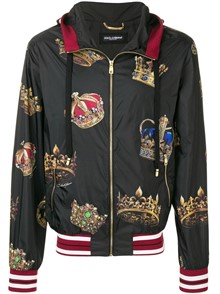 DOLCE & GABBANA CROWN PRINT JACKET