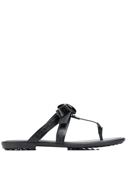 TOD'S BOW SANDALS WITH LOGO