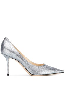 JIMMY CHOO SHADED FINE GLITTER FABRIC PUMPS
