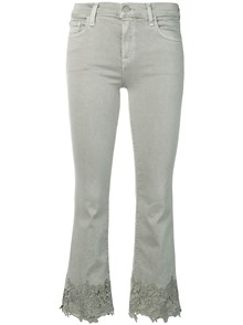 J BRAND JEANS WITH EMBROIDERED CUFF