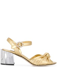 DOLCE & GABBANA METALLIC SANDALS