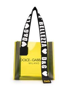 DOLCE & GABBANA LOGO PVC SHOPPING BAG