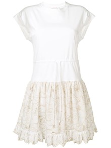 SEE BY CHLOE` EMBROIDERED DRESS