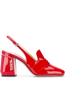 PRADA HIGH HEELED LOAFERS
