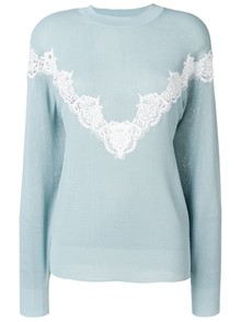 SEE BY CHLOE` LACE DETAIL PULLOVER