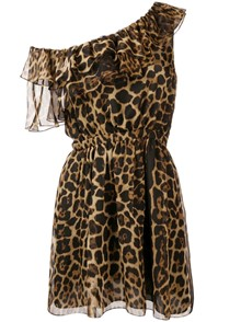 SAINT LAURENT ANIMAL PRINT DRESS