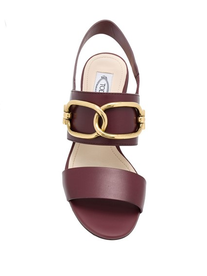 TOD'S LOGO BUCKLE SANDALS