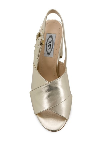 TOD'S METALLIC SANDALS