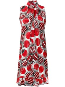 RED VALENTINO PRINTED DRESS