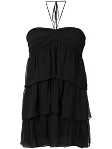 SAINT LAURENT MOUSSELINE DRESS
