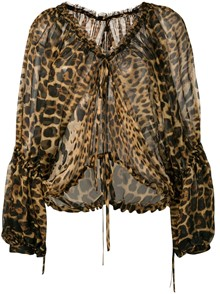 SAINT LAURENT ANIMAL PRINT TOP